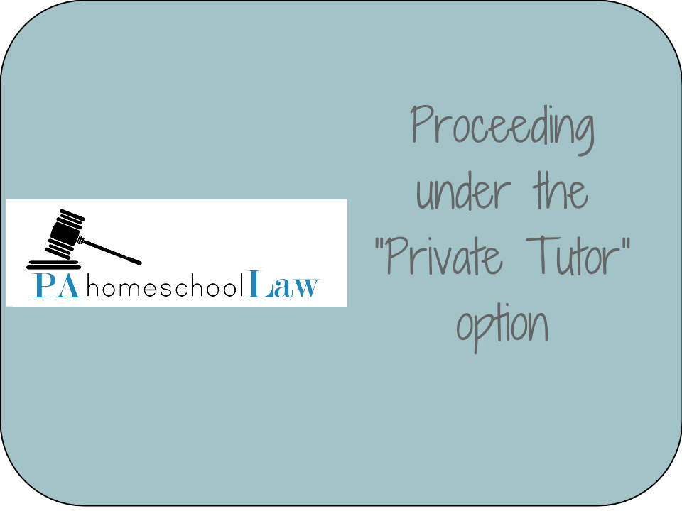 How to file under the private tutor option