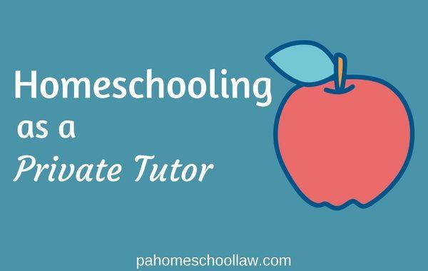 private tutor option PA homeschool law