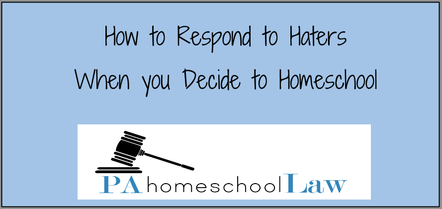 How to respond when people don't support your decision to homeschool