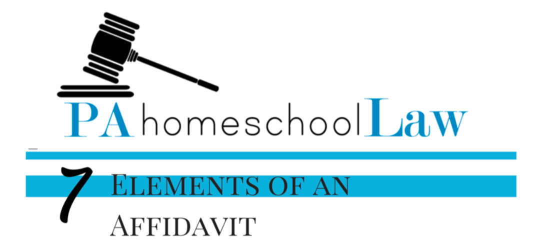 Requirements of an affidavit for Pennsylvania homeschool law