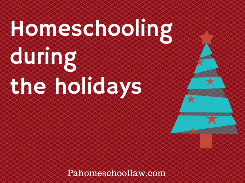 Homeschooling during the holidays in Pennsylvania #holidaycards #photocards #arts