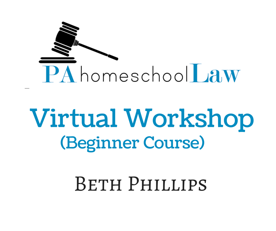 PA homeschool law virtual workshop