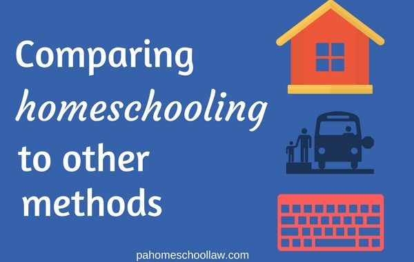 Compare homeschool to other methods of education