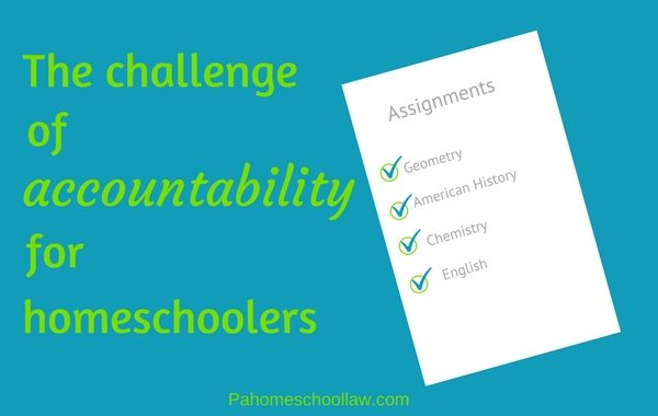 accountability when you homeschool