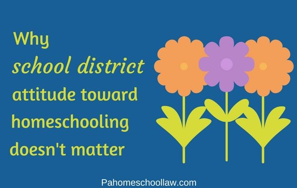 school district attitude toward homeschoolers