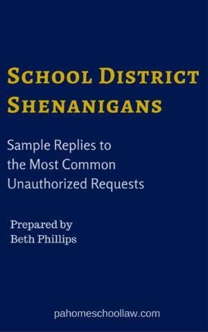 school district shenanigans guide PA homeschool law