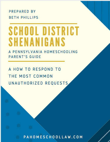School District Shenanigans PA Homeschool Law cover image